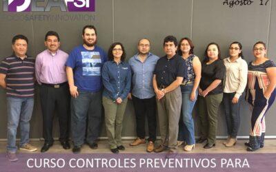 Curso Controles Preventivos FSPCA. Agosto 2017. Monterrey, N.L.