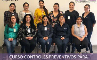 Curso Controles Preventivos FSPCA. Mayo 2019. Monterrey, N.L.